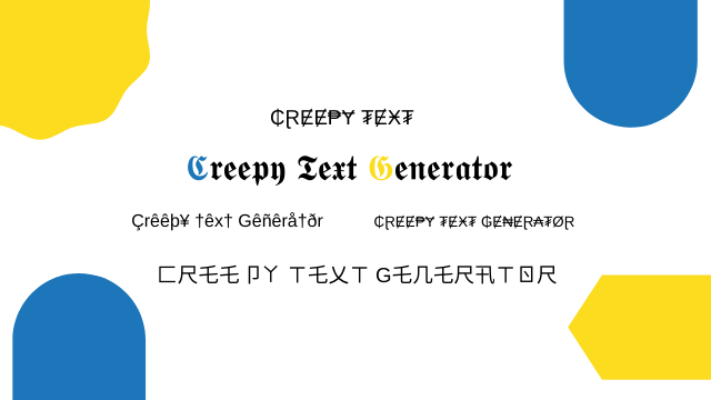 Creepy Text Generator